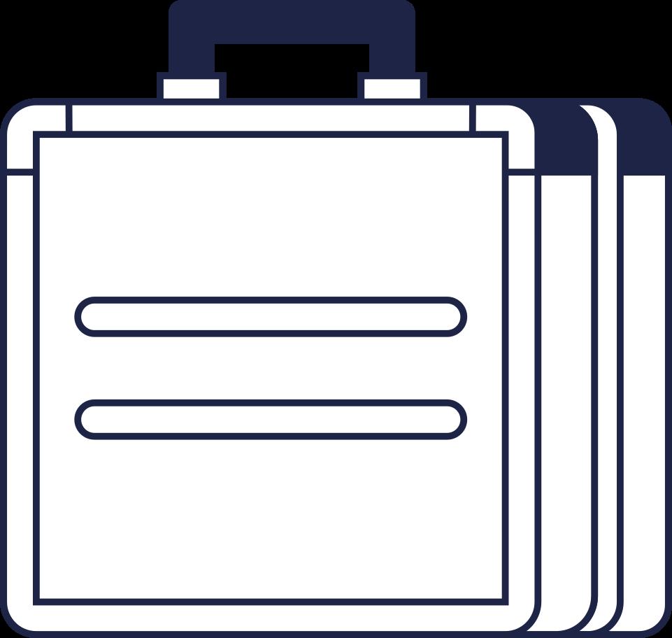 Ilustración de clipart de Línea de caso de pago procesado en PNG, SVG