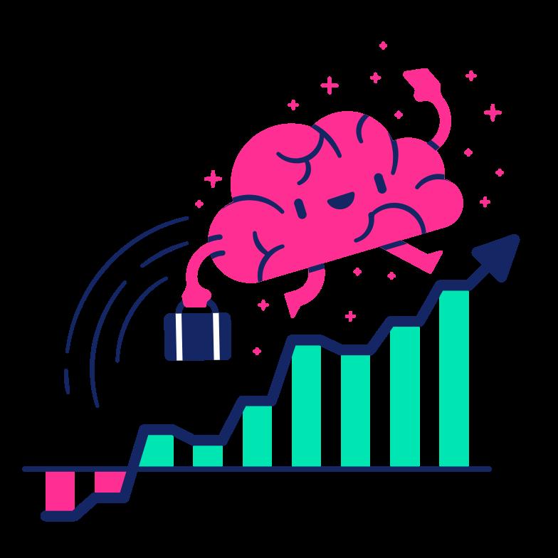 Improving intelligence Clipart illustration in PNG, SVG