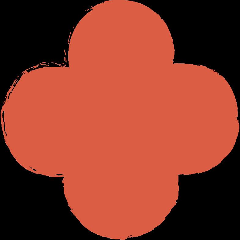 quatrefoil-red Clipart illustration in PNG, SVG
