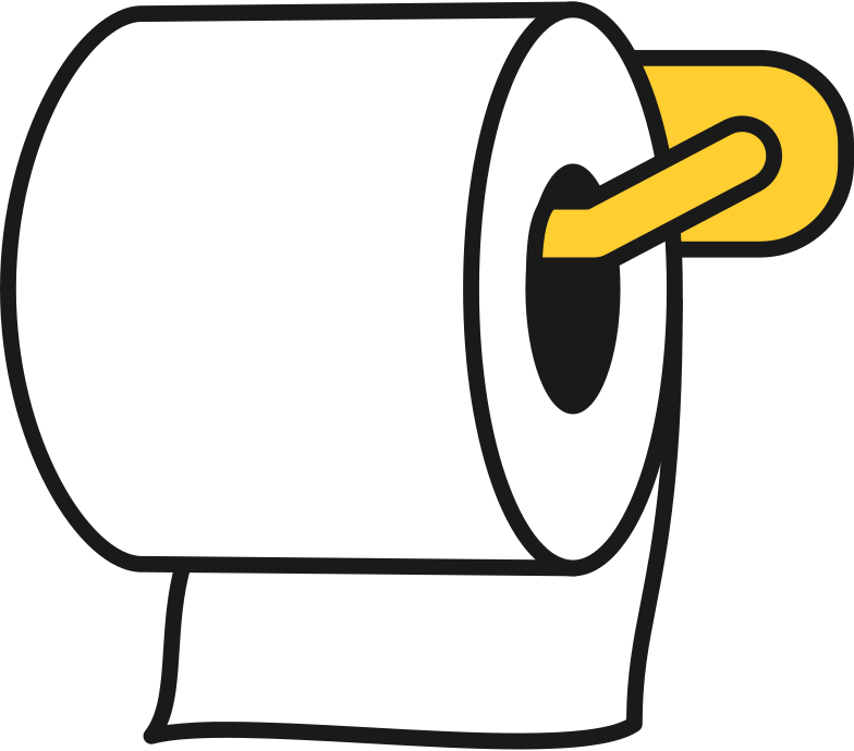 toilet paper roll with holder Clipart illustration in PNG, SVG