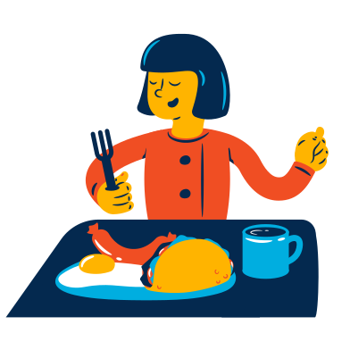 style Hearty breakfast images in PNG and SVG | Icons8 Illustrations