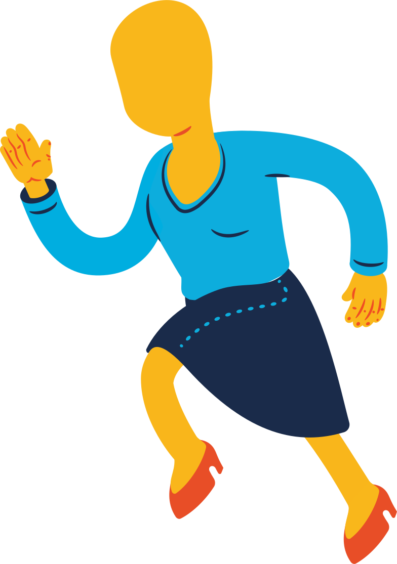 woman running Clipart illustration in PNG, SVG