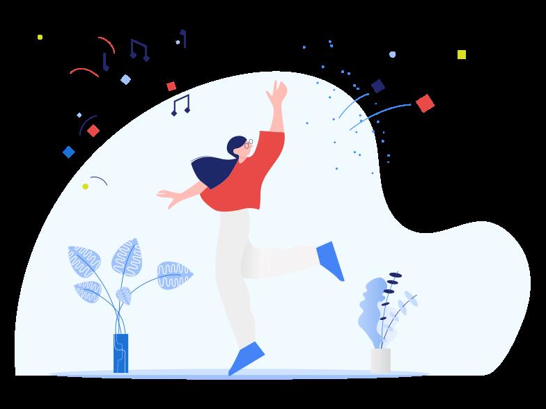 PNGとSVGの  スタイルの 観葉植物で踊る ベクターイメージ | Icons8 イラスト