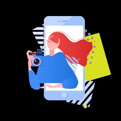 Иллюстрация Blogger в стиле  в PNG и SVG | Icons8 Иллюстрации