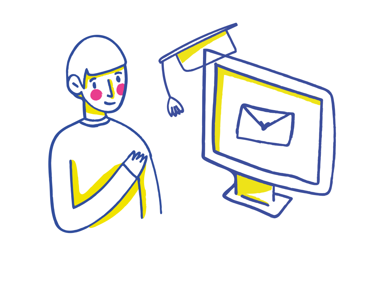 Job searching Clipart illustration in PNG, SVG