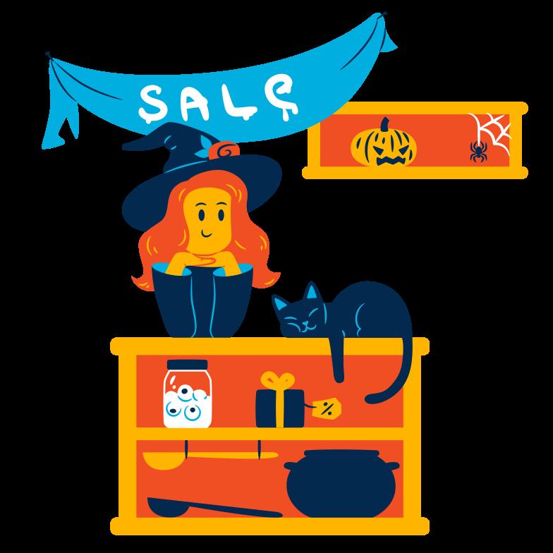 Иллюстрация Распродажа на хэллоуин в стиле  в PNG и SVG | Icons8 Иллюстрации