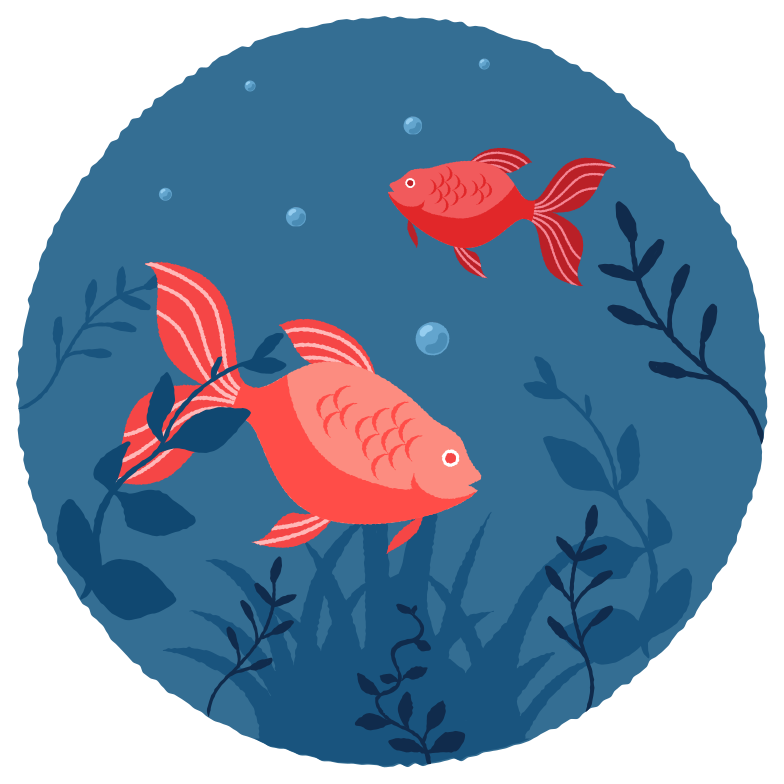 Underwater world Clipart illustration in PNG, SVG