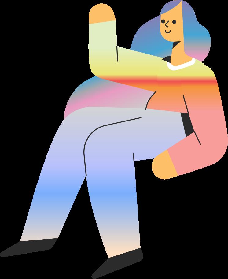 girl sit Clipart illustration in PNG, SVG
