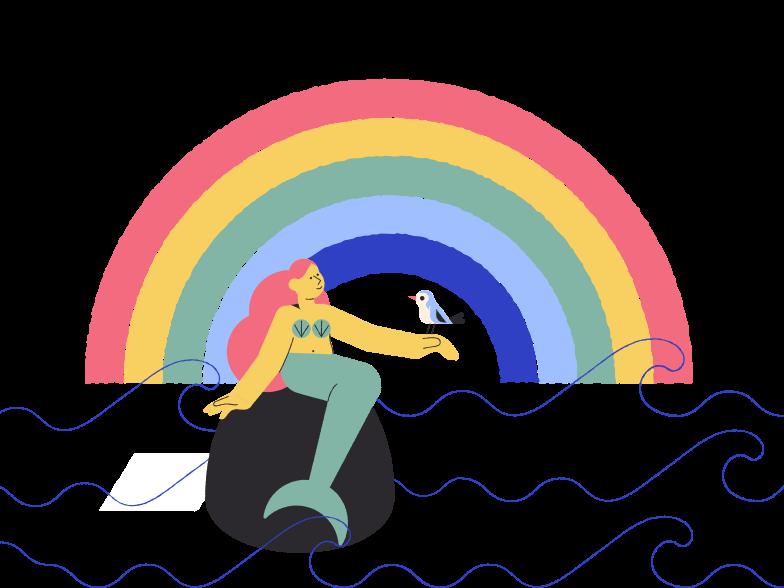 Imágenes vectoriales hermosa sirena en PNG y SVG estilo  | Ilustraciones Icons8