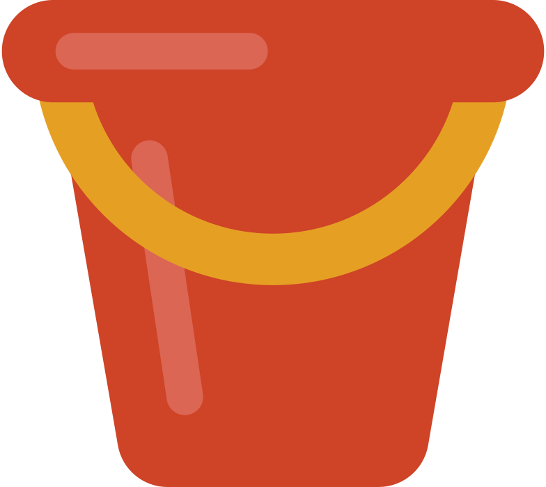 beach bucket Clipart illustration in PNG, SVG