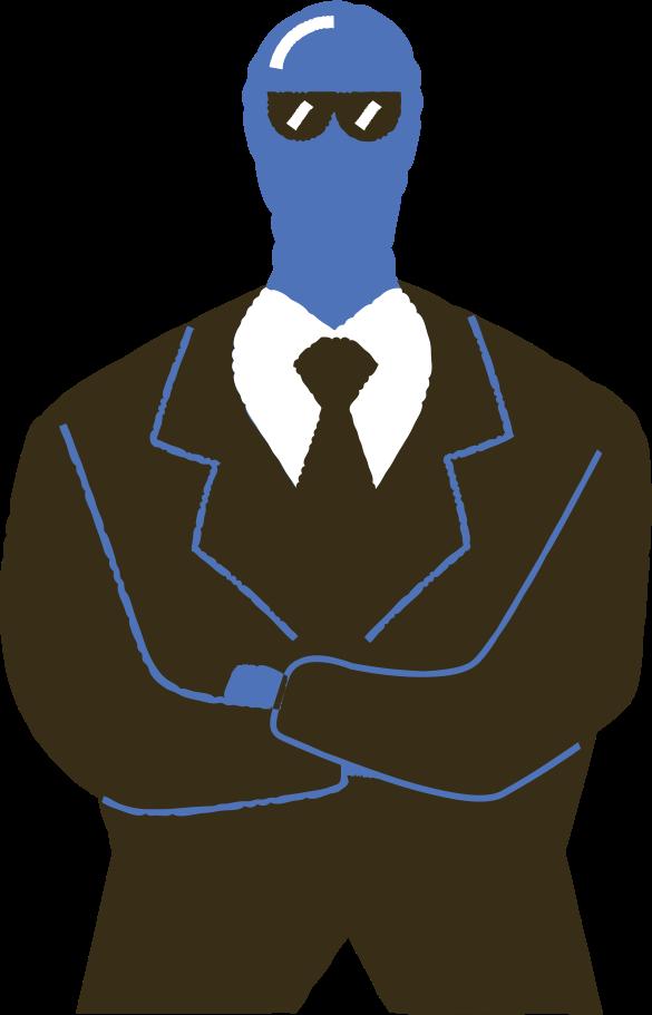 Mann im anzug Clipart-Grafik als PNG, SVG