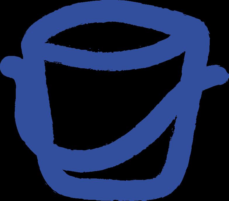 bucket Clipart illustration in PNG, SVG