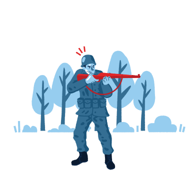 style Soldier with gun images in PNG and SVG | Icons8 Illustrations