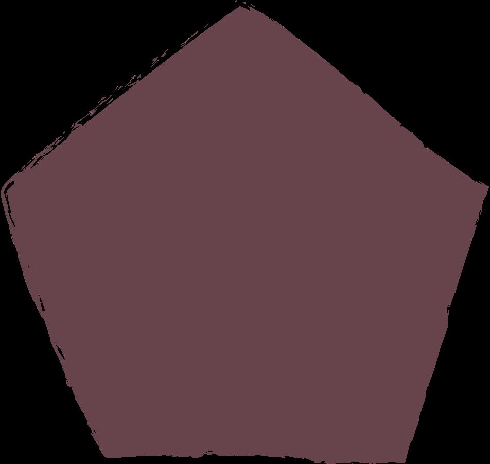 pentagon-brown Clipart illustration in PNG, SVG