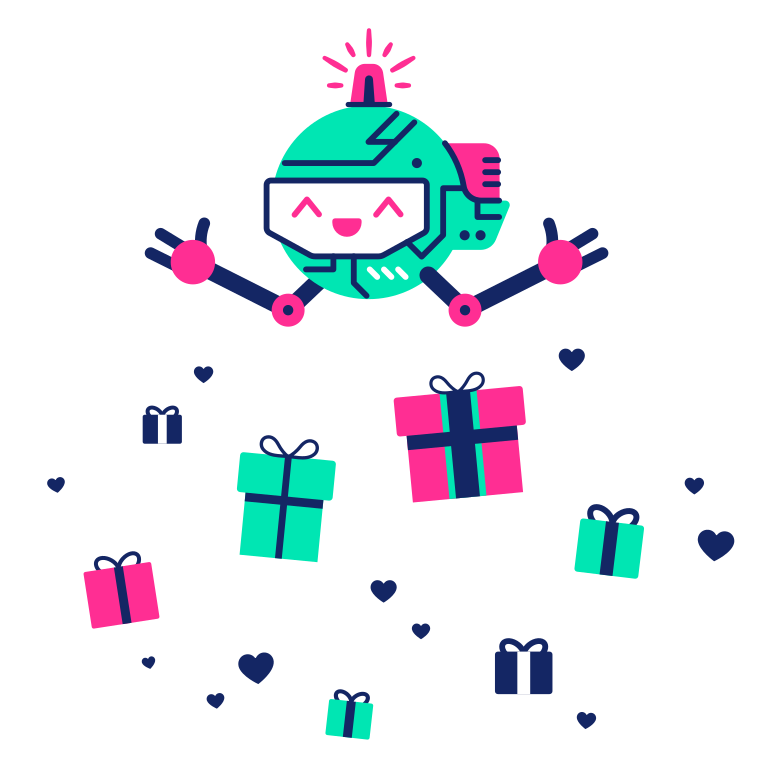 Presents with love Clipart illustration in PNG, SVG