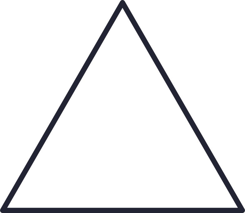 triangle white Clipart illustration in PNG, SVG