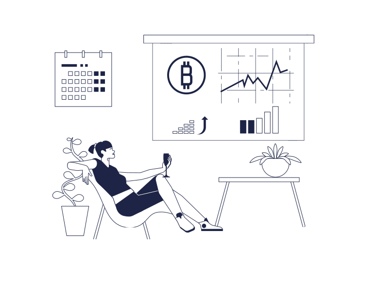 style Bitcoin Growth Celebration Vector images in PNG and SVG | Icons8 Illustrations