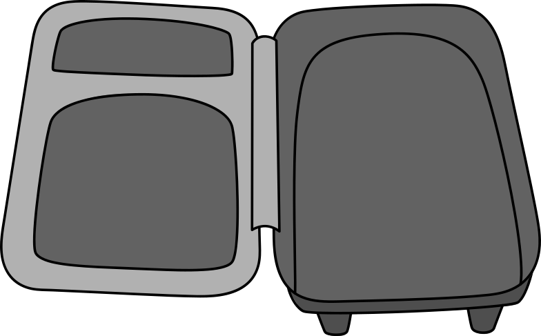 open suitcase Clipart illustration in PNG, SVG