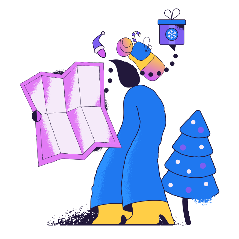 style Delivering gifts Vector images in PNG and SVG | Icons8 Illustrations