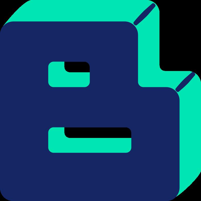 letter b Clipart illustration in PNG, SVG
