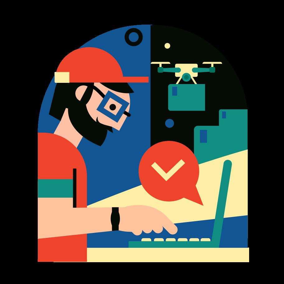 Order delivered Clipart illustration in PNG, SVG