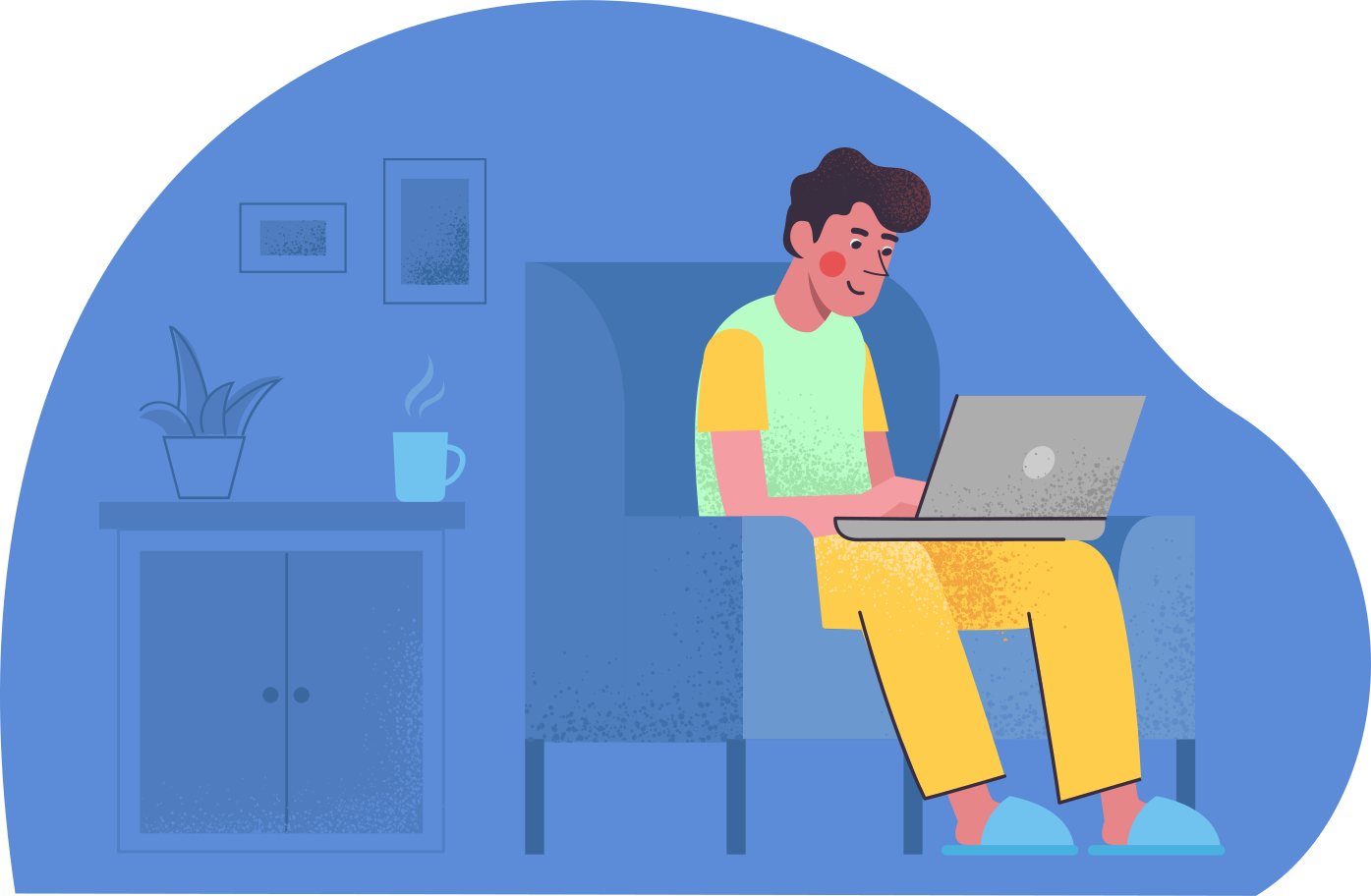 Work at home Clipart illustration in PNG, SVG