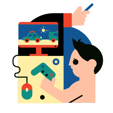 style Computer games images in PNG and SVG | Icons8 Illustrations