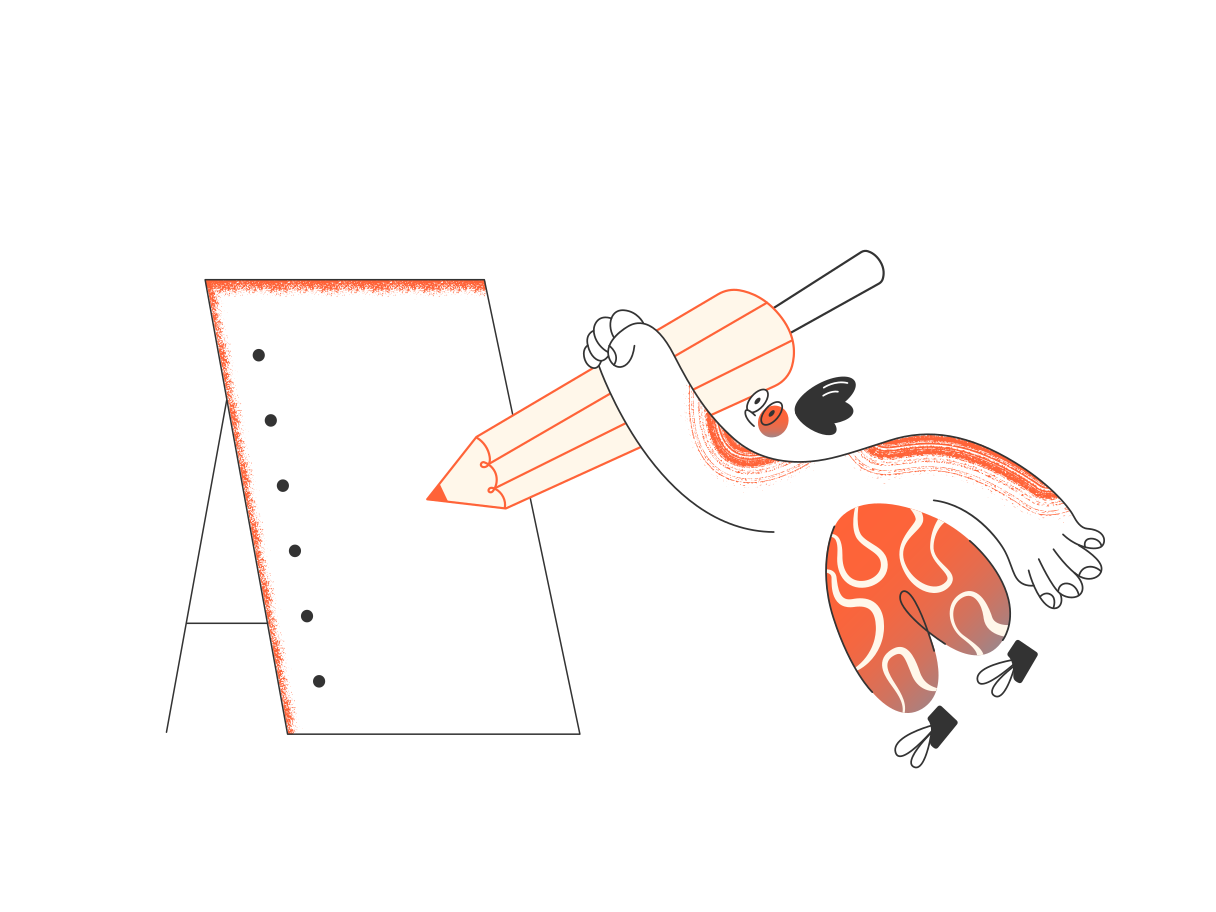 Taking notes Clipart illustration in PNG, SVG