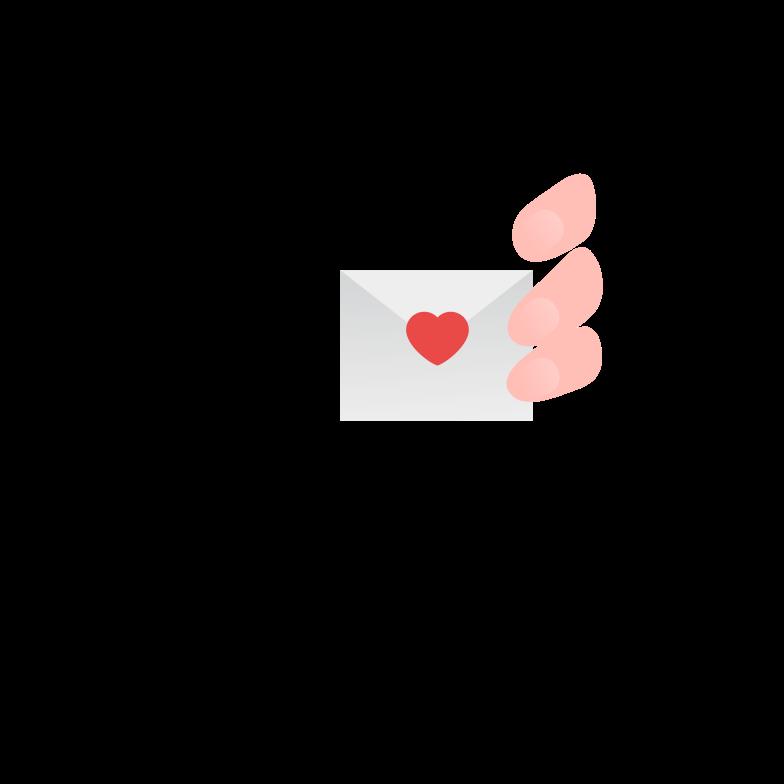 Love letter Clipart illustration in PNG, SVG