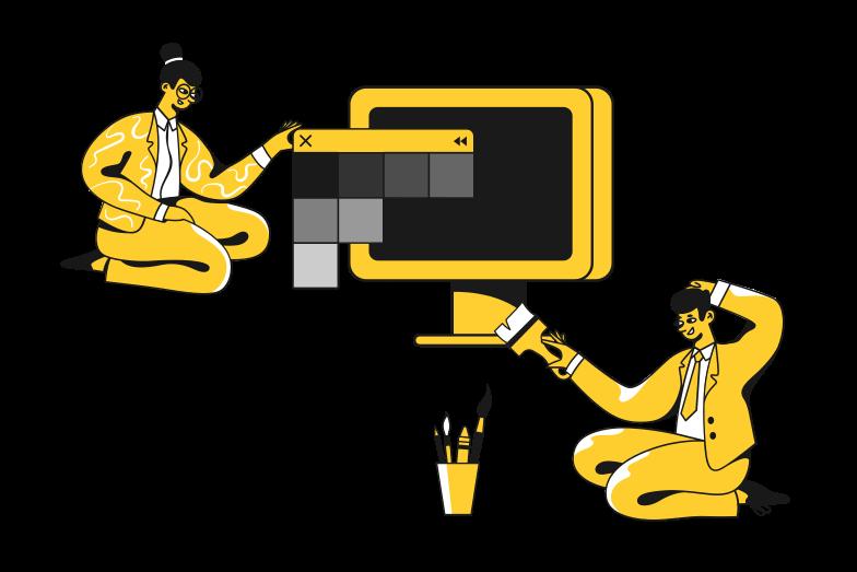 Web design concept Clipart illustration in PNG, SVG