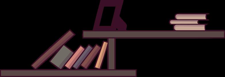 bookshelves Clipart illustration in PNG, SVG