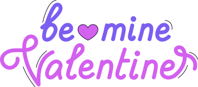 style be mine valentine images in PNG and SVG | Icons8 Illustrations