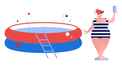 style Poolside selfie images in PNG and SVG | Icons8 Illustrations