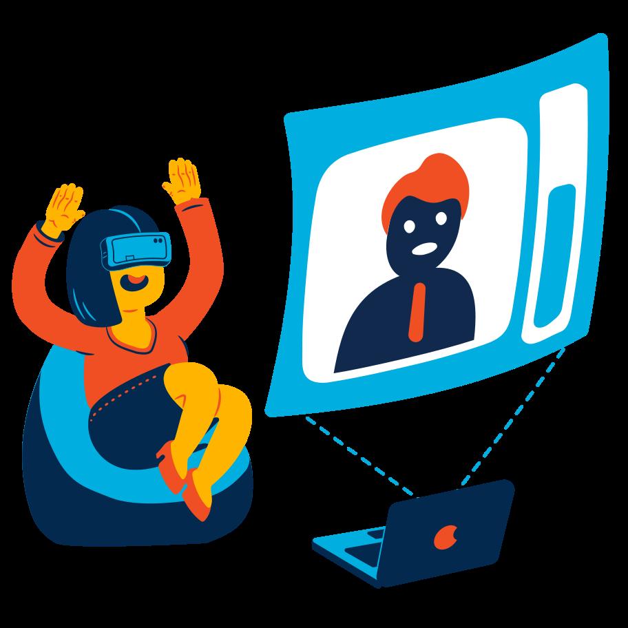 VR chat Clipart illustration in PNG, SVG