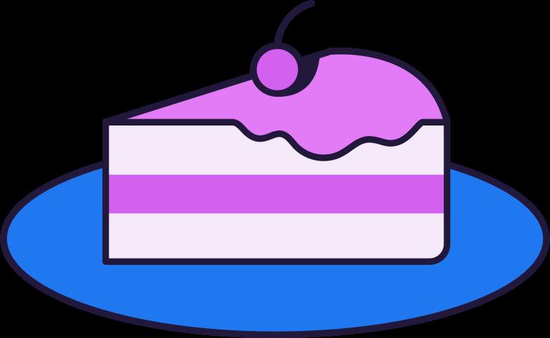 cake slice Clipart illustration in PNG, SVG