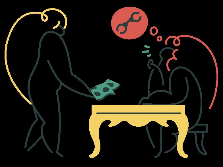 Bribe Clipart illustration in PNG, SVG