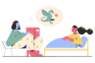 style Bedtime story images in PNG and SVG | Icons8 Illustrations