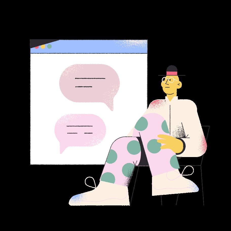 Online service chat  Clipart illustration in PNG, SVG