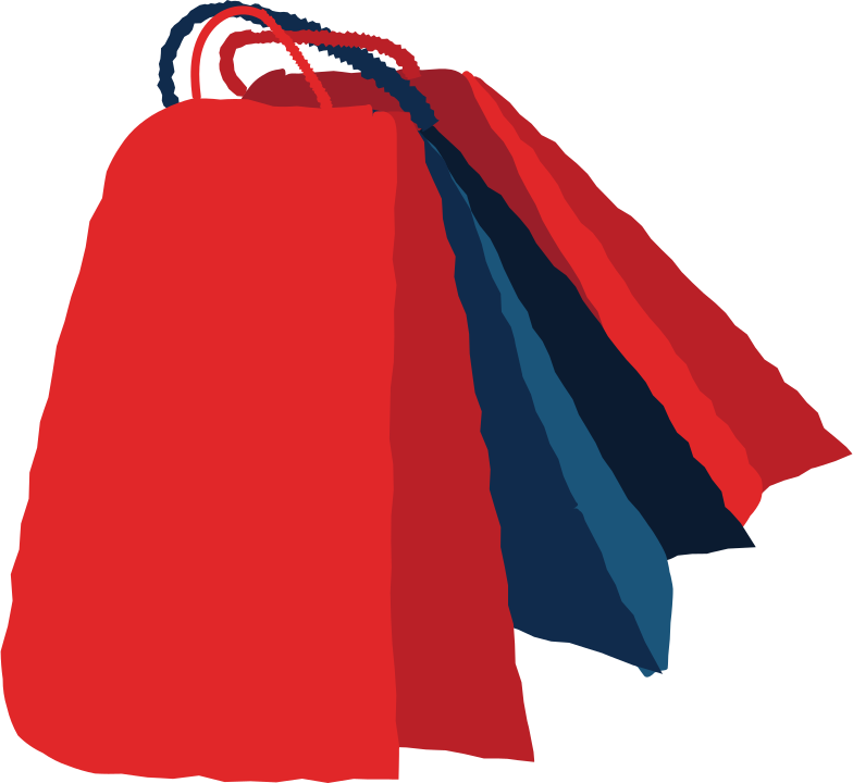 shopping bags Clipart illustration in PNG, SVG
