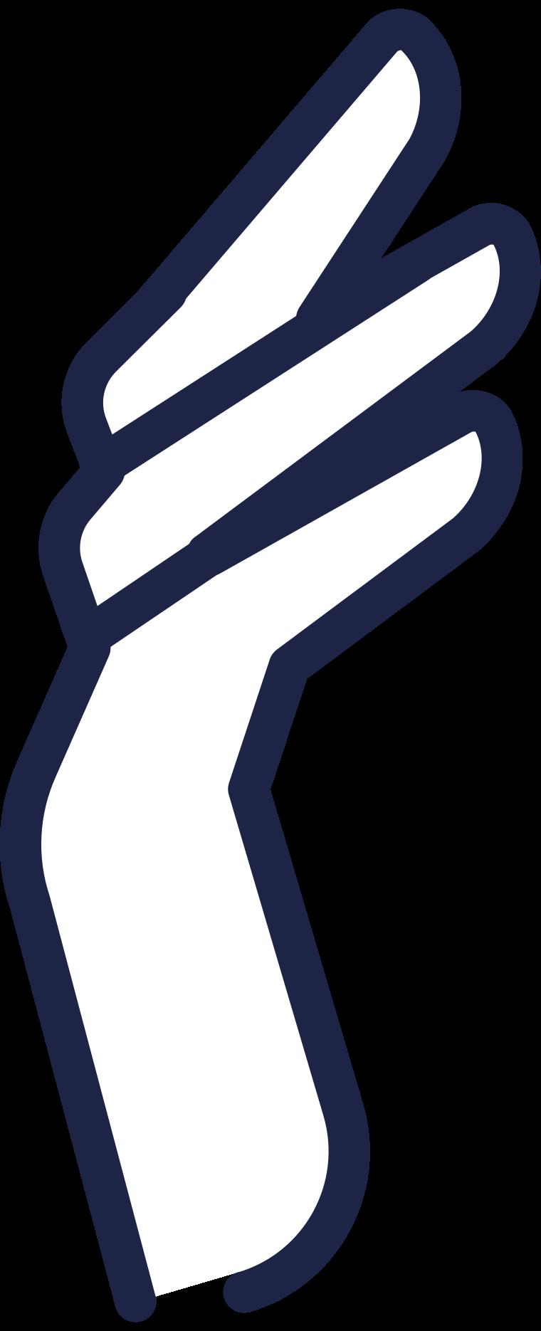 fingers holding 2 line Clipart illustration in PNG, SVG