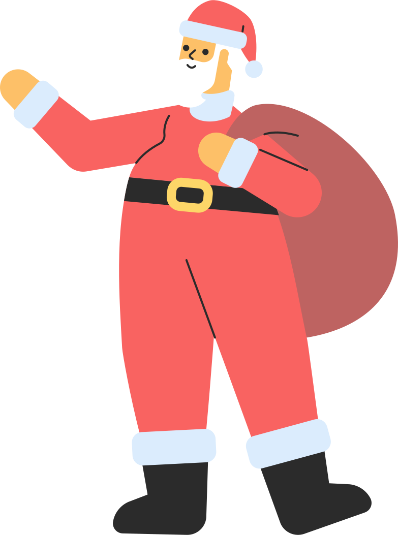 Vektorgrafik im  Stil Weihnachtsmann mit geschenken als PNG und SVG | Icons8 Grafiken