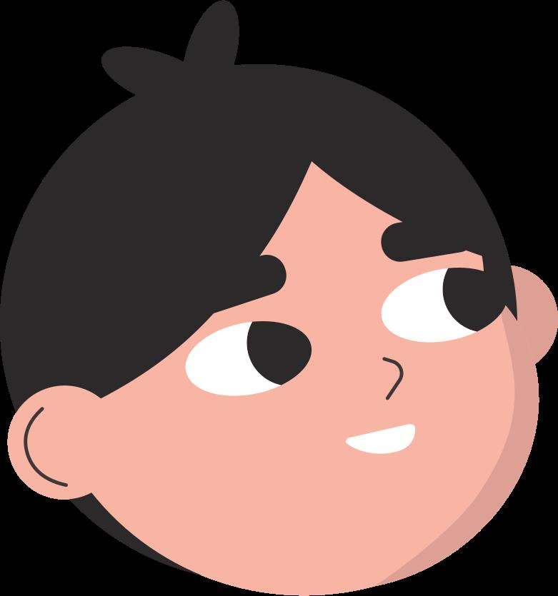 boy head Clipart illustration in PNG, SVG