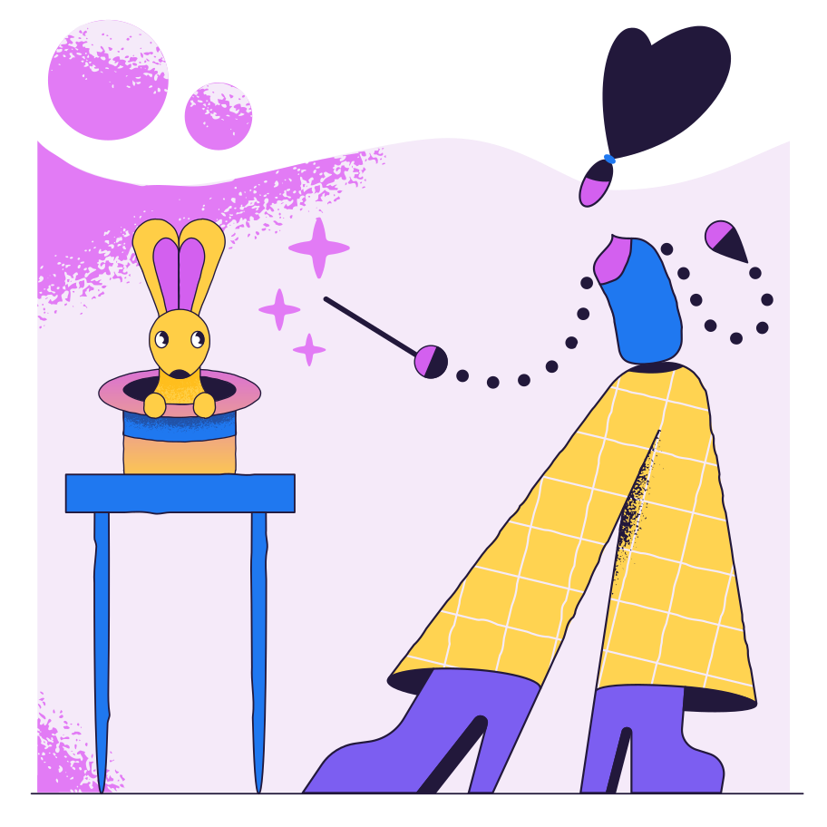 Magic trick Clipart illustration in PNG, SVG