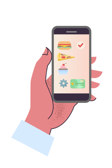 style Ordering food delivery images in PNG and SVG | Icons8 Illustrations