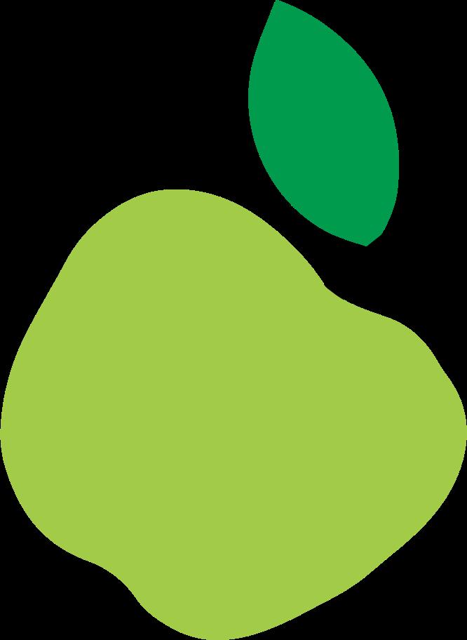 Ilustración de clipart de manzana en PNG, SVG