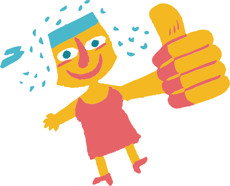woman thumb up Clipart illustration in PNG, SVG