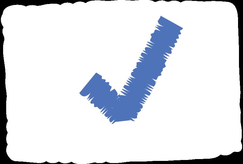 done sign Clipart illustration in PNG, SVG