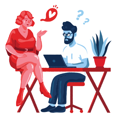 style Love affair at work images in PNG and SVG | Icons8 Illustrations