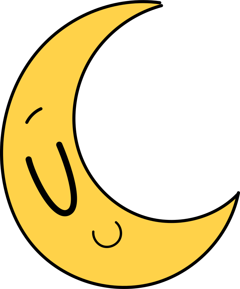 logged out  moon Clipart illustration in PNG, SVG