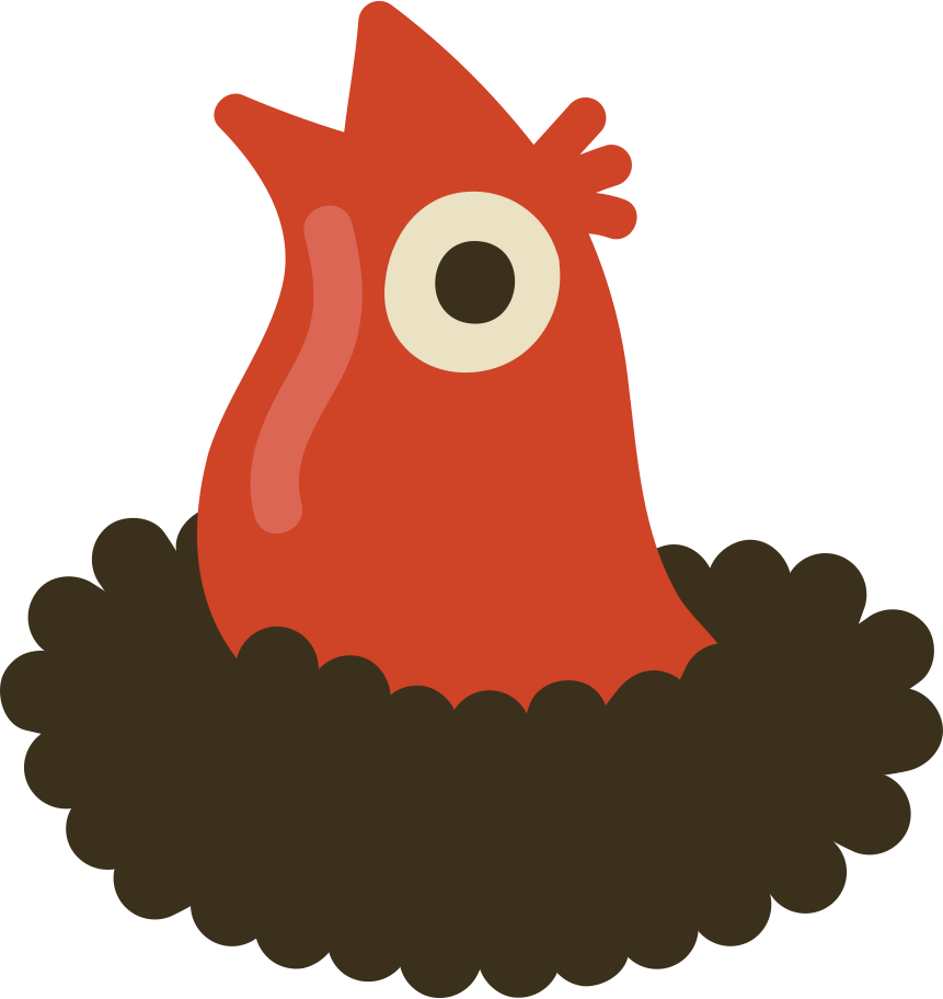 nest with chick Clipart illustration in PNG, SVG
